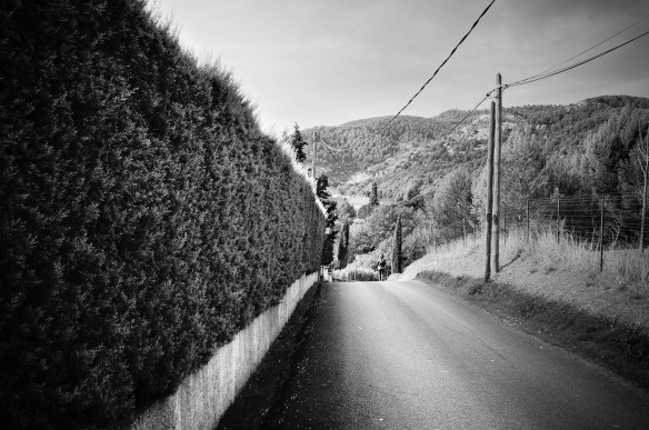 A lone woman in a country alley, Sony NEX-5N & Zeiss ZM Biogon 25