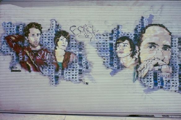 Graffiti on a garage wall, Sony NEX-5N and Leica Summicron-M 28