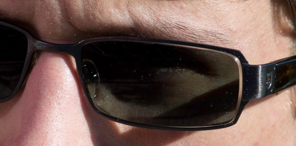 High resolution shot of eye and eyebrows, Sony NEX-5N & Zeiss Contax Sonnar 135/2.8