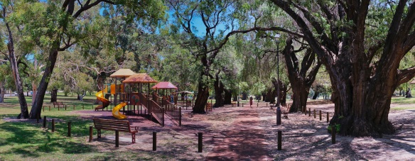 A children's playground in Subiaco, Perth. Panorama using the Sony NEX-5N and Zeiss ZM Biogon 25/2.8