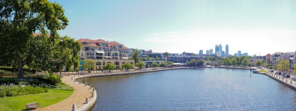 A view of Claisebrook Cove in East Pert. Panorama using the Sony NEX-5N and Zeiss ZM Biogon 25/2.8