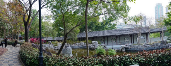 The Walled City Park in Hong Kong. Panorama using the Sony NEX-5N and Zeiss ZM Biogon 25/2.8