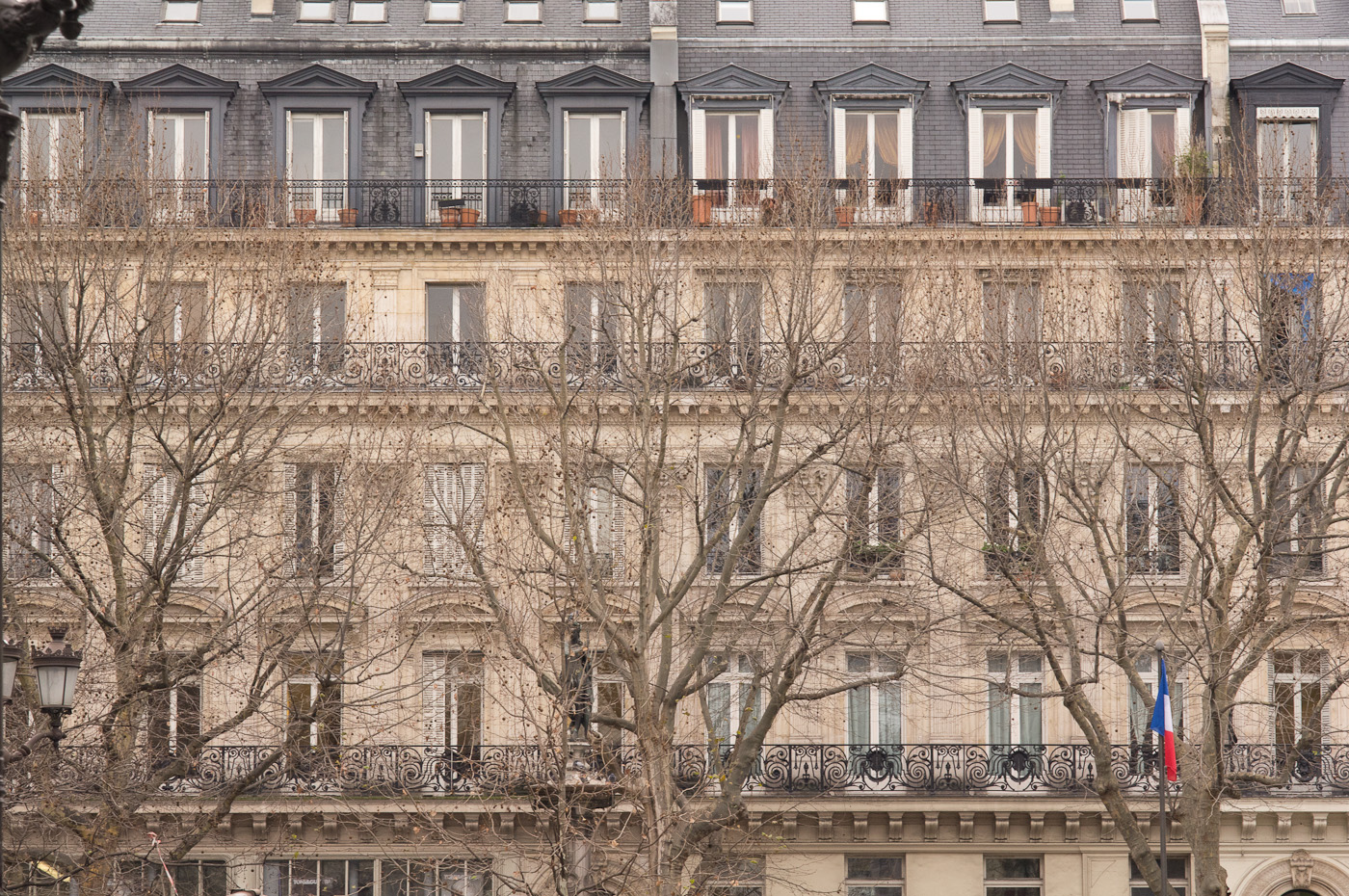 A posh building in central Paris