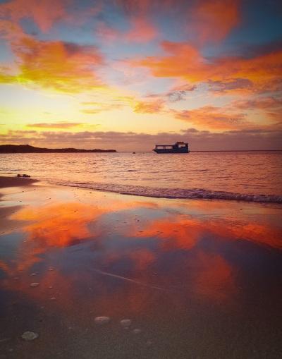 Sunset at Kalbarri beach