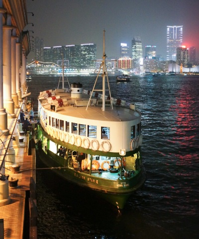 The ferry in Hong-Kong at night. Sony NEX-5n