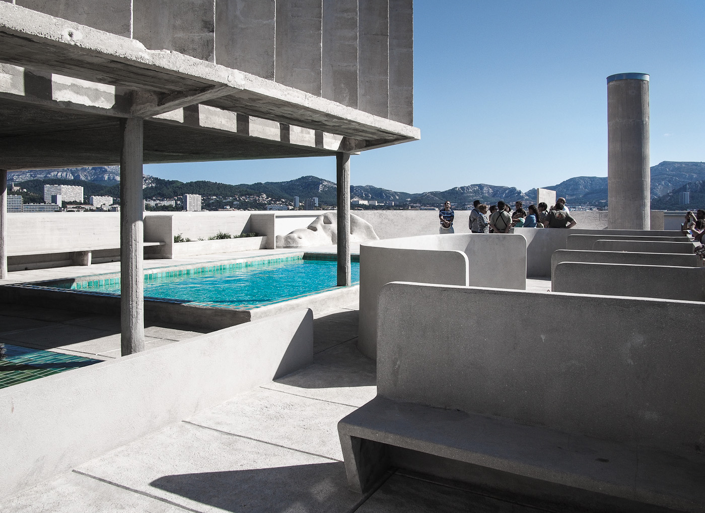 The elementary school on the roof of Le Corbusier's La Cité Radieuse, Marseilles. Olympus OM-D EM-5.