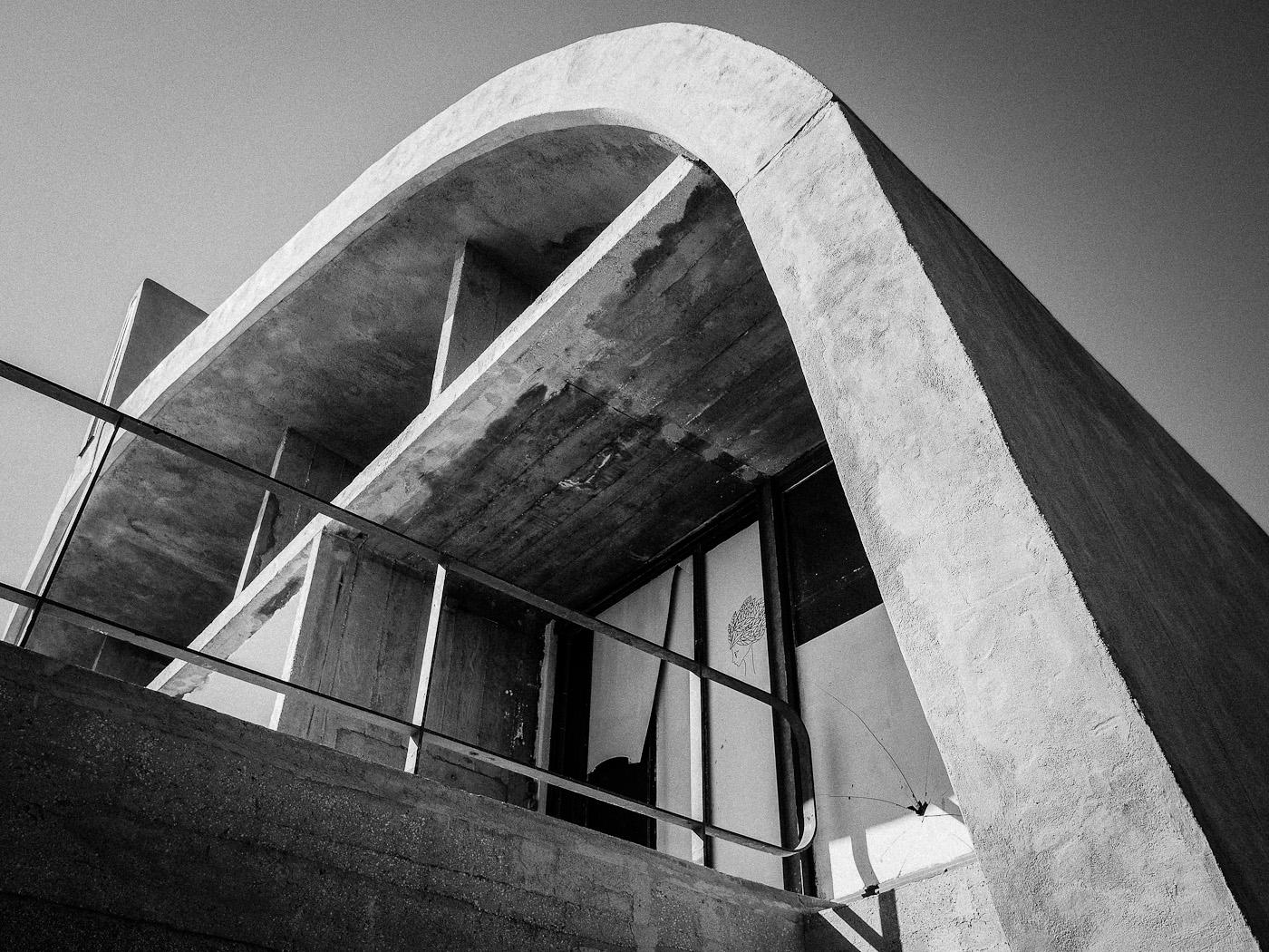 Gymnasium on the roof of La Cité Radieuse, Le Corbusier, Marseilles. Olympus OM-D E-M5.