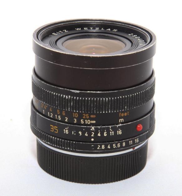 My Summicron-R 35:2, with a Leitax bayonet, on a Nikon D800e camera
