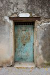 A rusty metal door in Tourves, Var, Provence