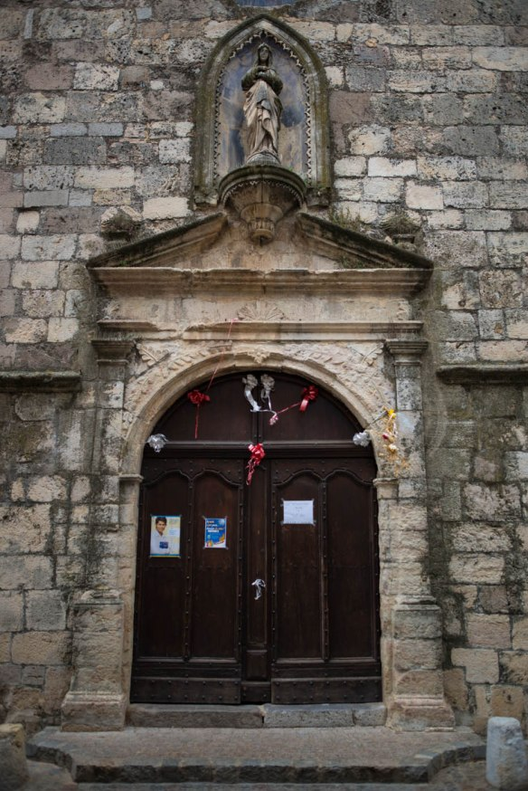 Church door in Provence