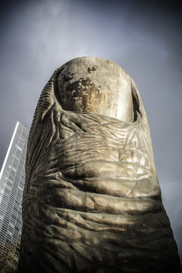 Cesar's thumb in La Defense, Paris.